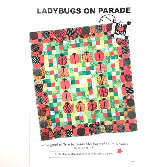New Quilt Patterns  LADYBUGS ON PARADE   72x81