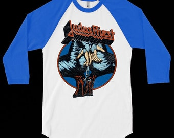 53ee8e4b Judas Priest Vintage Design- Baseball Shirt!