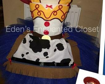 Disney toy story Jessie cowgirl inspired tutu dress costume