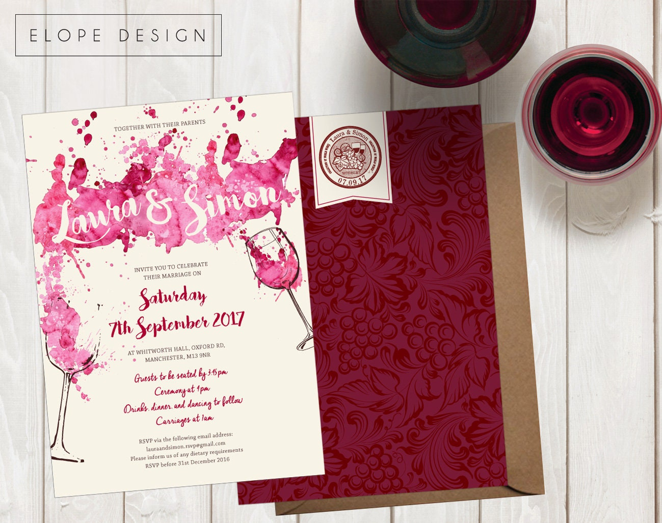 Magnificent Personalised Photo Wedding Invitations Pictures ...