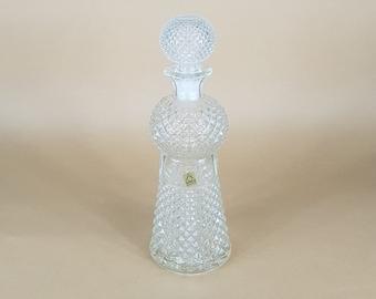 cut glass liquor decanter