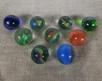 Vintage Glass Bead - Ball Balls - Colorful Balls