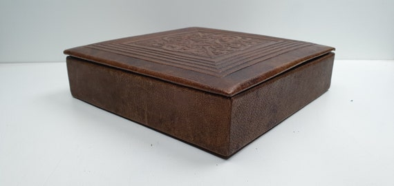 Vintage Jewelry Box - Jewelry Case - Leather Case