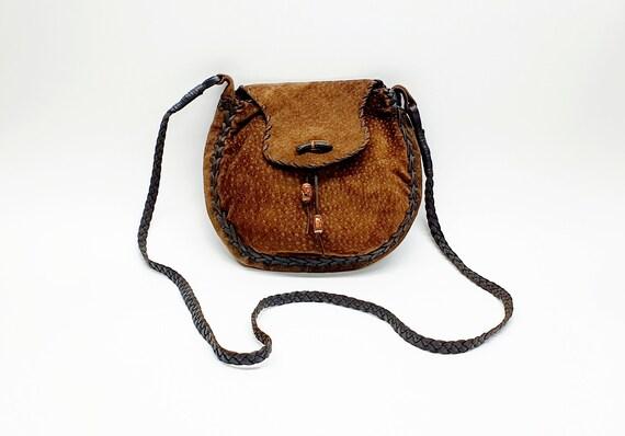 Bag - Leather bag - Small bag - Long handle bag -