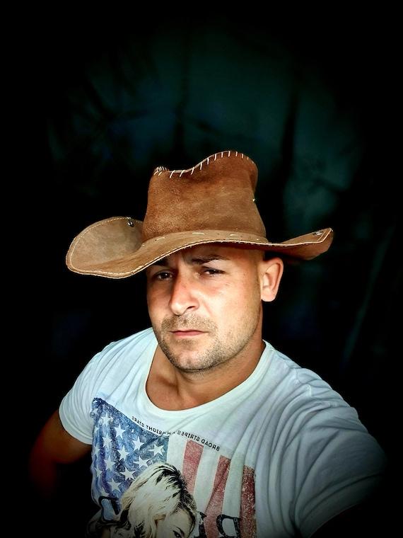 Hat, Cowboy Hat, Suede Hat, Vintage Cowboy Hat, Vi