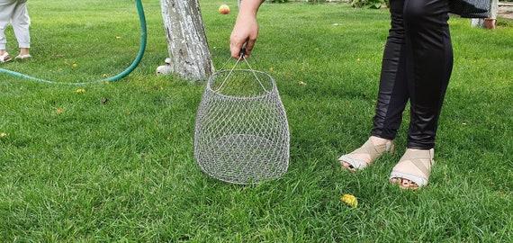 Vintage fish basket - Wicker basket - Fishing bask