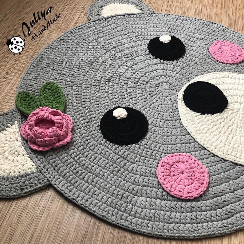 93f5ac3c84 Patrón de ganchillo oso de ganchillo patrón de alfombra de