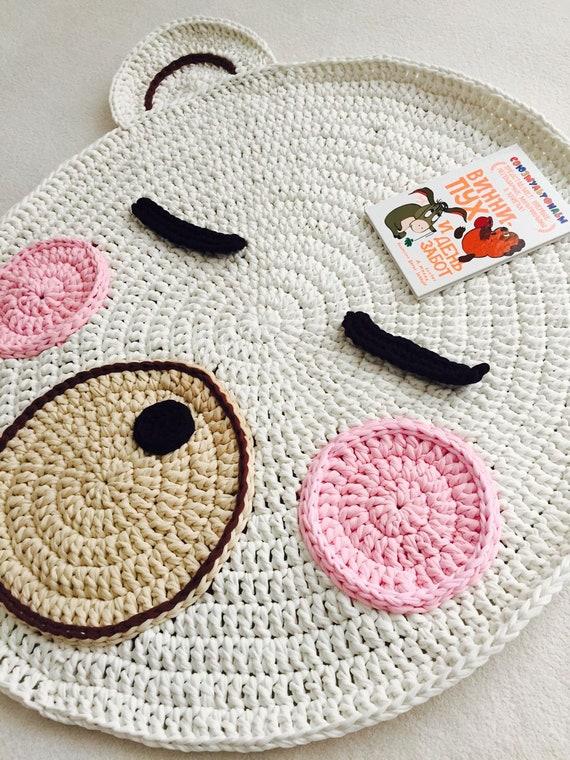 patrón de ganchillo oso de ganchillo patrón de alfombra de | Etsy