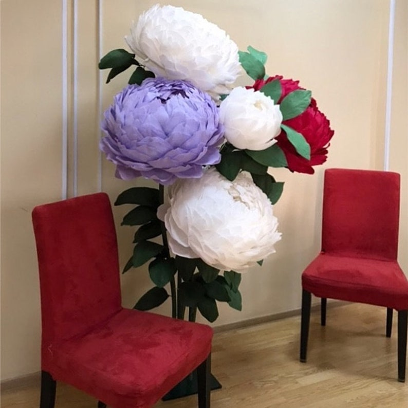 Large Peony Paper Flower Template Diy Instant Download Paper Flower Decor For Weddings Showers Or Home Decor