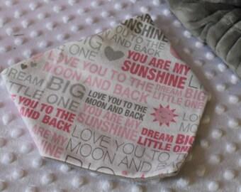 You Are My Sunsine - Pink - Bandana Bib