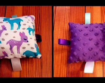 Purple and Teal Deer Stuffed Tag-E Toy