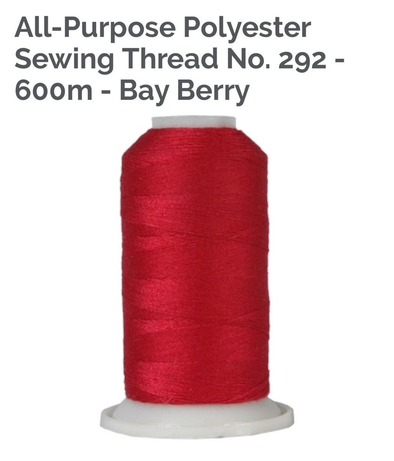 292-600m Bay Berry All-Purpose Polyester Sewing Thread No