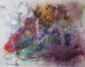 Abstract Watercolour Painting Print