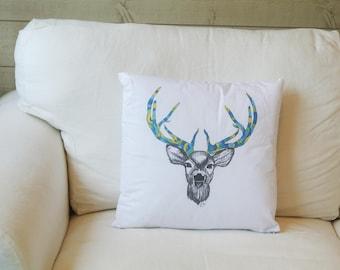 Deer Illustration cushion