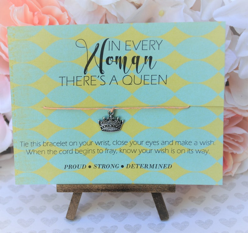In Every Woman There is a Queen Wish Bracelet Wish Upon Your image 0