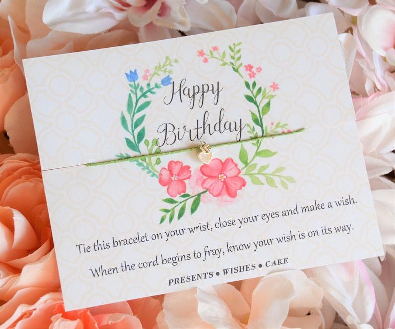 Happy Birthday Wish Bracelet Gift