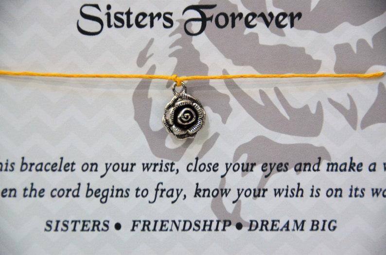 Rose Wish Bracelet Sorority Bracelet Wish Bracelet Pledge Gift Gift for Sororities Rose Sorority Wish Bracelet Wish Upon Your Wrist
