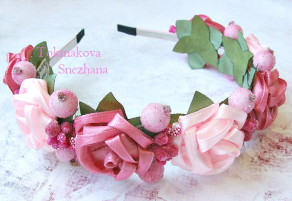 COLORI ACCESSORI 1 ROSA SATINATO Hairband Sposa Damigelle 50