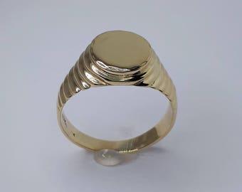 Women Signet Ring, Signet Ring, Gold Signet Ring, Men Signet Ring, Initials Ring, Mens Ring, Yellow Gold Ring, Signet Yellow Gold
