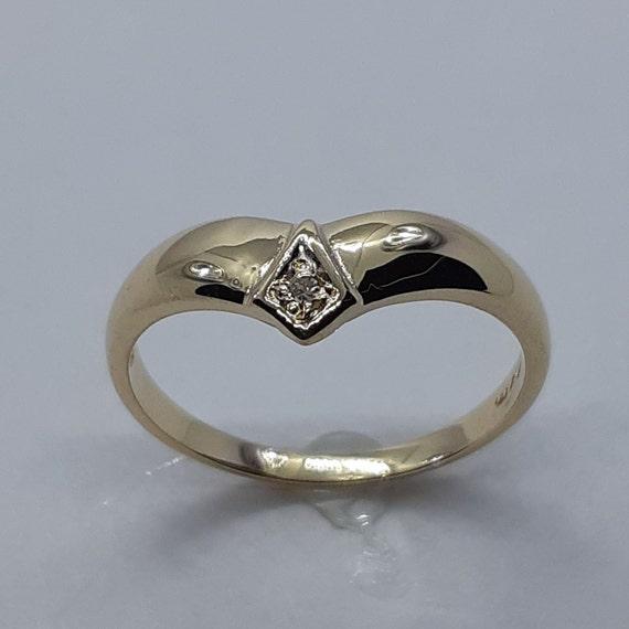 bague or jaune diamant vintage