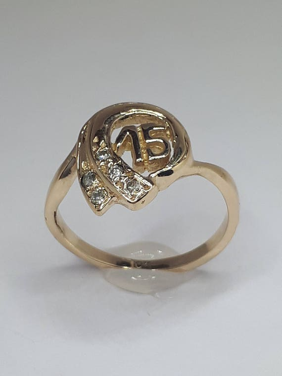 Quinceanera Ring 15th Birthday 15 Year Old Girl
