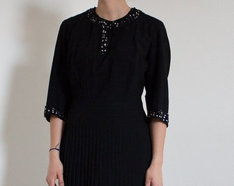 Vintage 1930's embellished dress