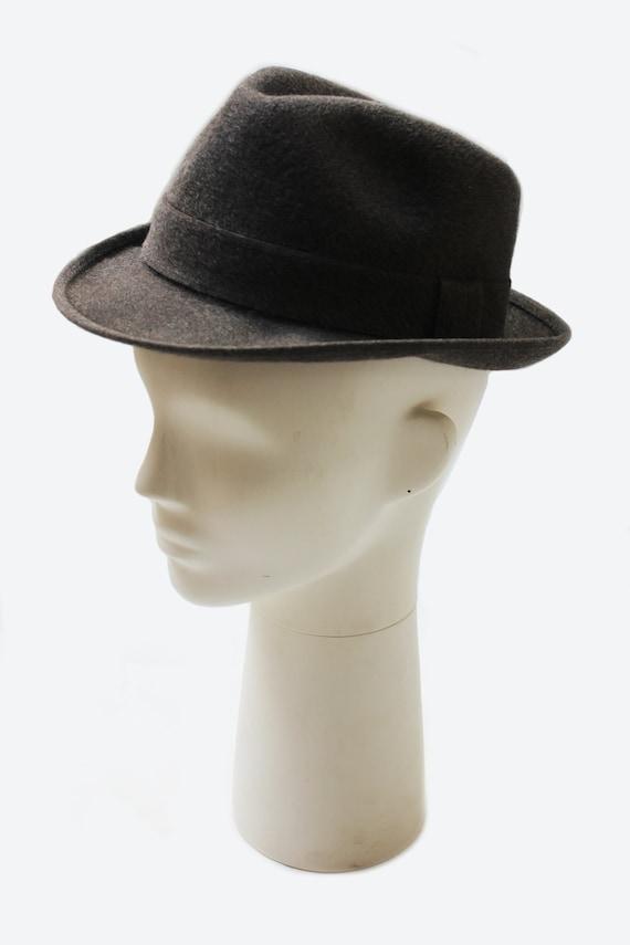 Borsalino 1970's unisex grey wool fedora hat - image 1