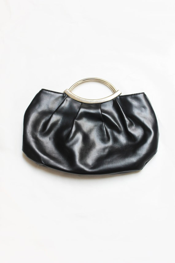 Vintage 1960's top handle leather bag
