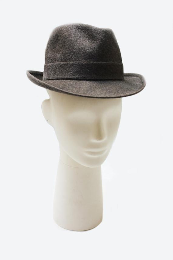 Borsalino 1970's unisex grey wool fedora hat - image 2