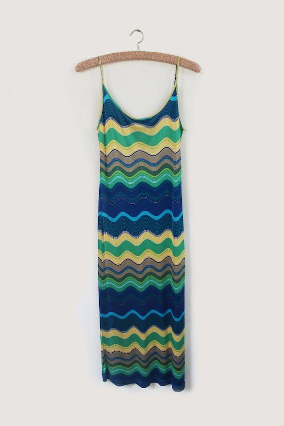 Missoni Sport 90's rayon multicolor slip dress - image 4