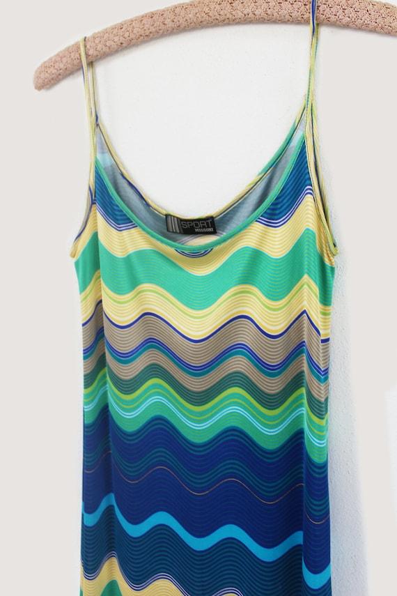 Missoni Sport 90's rayon multicolor slip dress - image 3