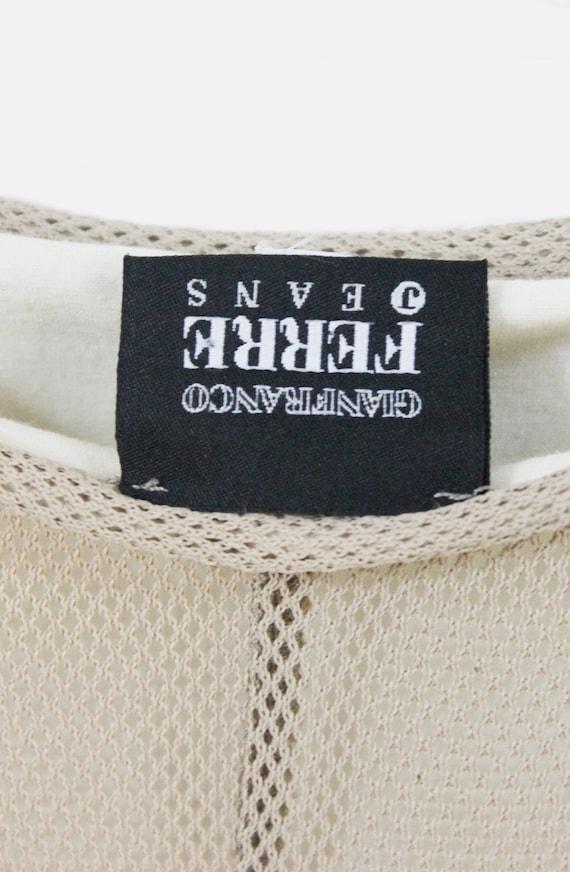 Gianfranco Ferré Jeans 90's nude mesh slip maxi d… - image 5