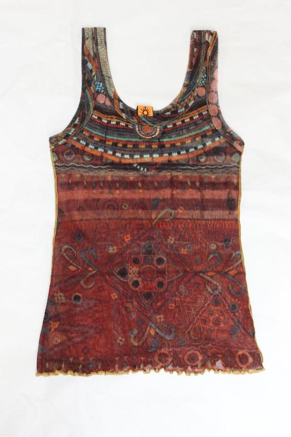 Vintage 90's Jean Paul Gaultier Soleil mesh tribal