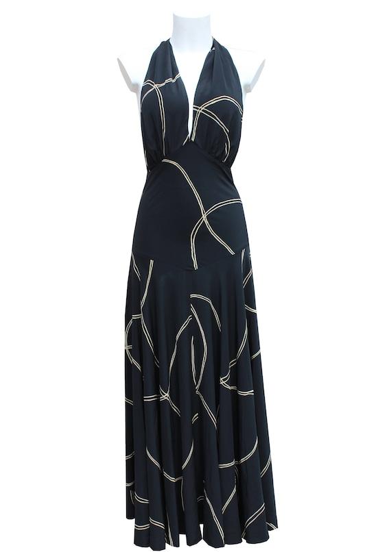 Vintage 1970's silk maxi dress