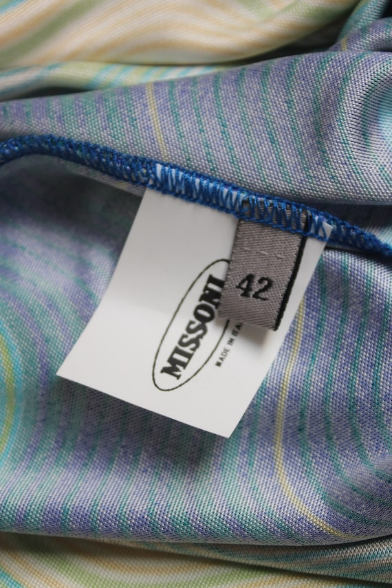 Missoni Sport 90's rayon multicolor slip dress - image 5