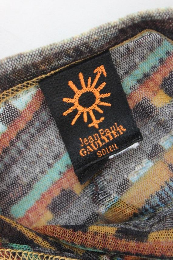 Vintage 90's Jean Paul Gaultier Soleil mesh triba… - image 4