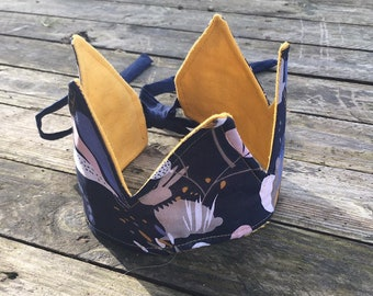fabric Crown, Princess Crown, Crown of Kings, reversible and reusable.