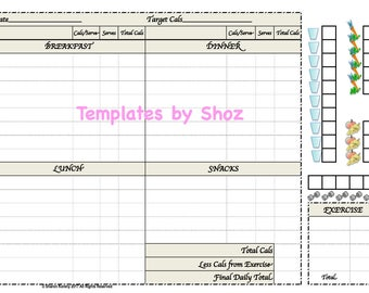 Weight Loss Chart With Water Fruit Vegetable And Exercise Tracker