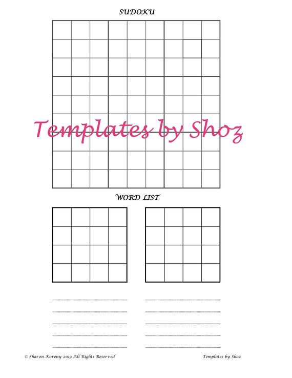 graphic regarding Sudoku Printable Pdf known as Printable PDF Puzzle Coach Sheet - Sudoku