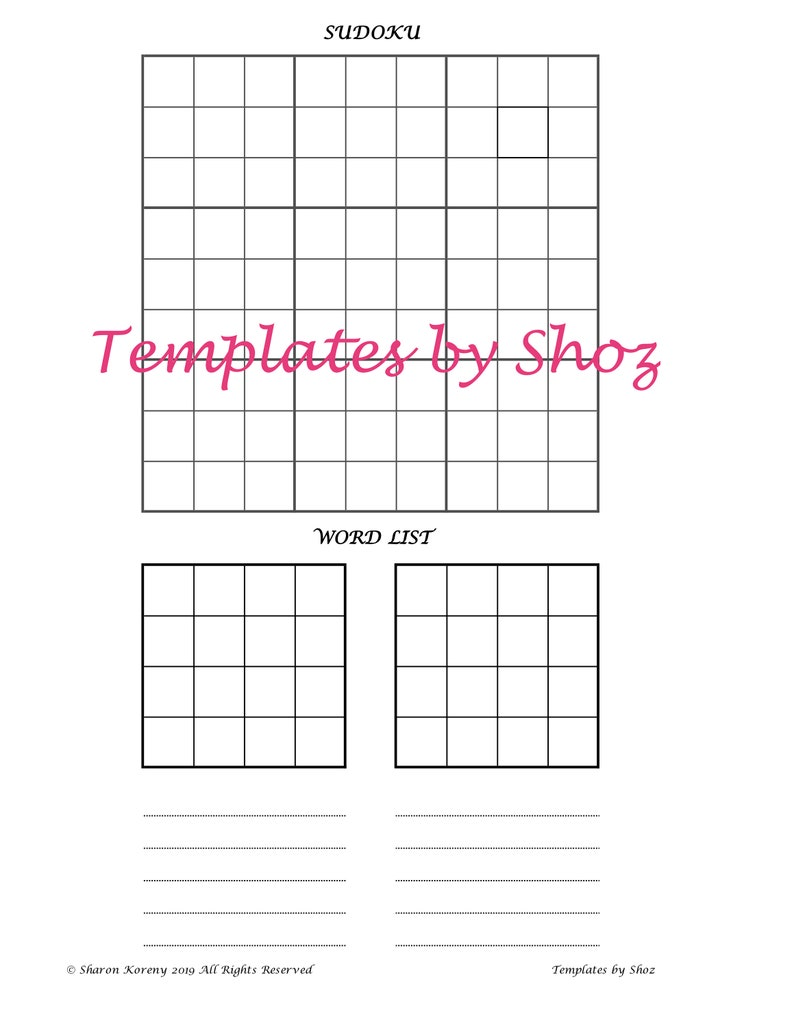 photo relating to Sudoku Printable Pdf named Printable PDF Puzzle Teach Sheet - Sudoku