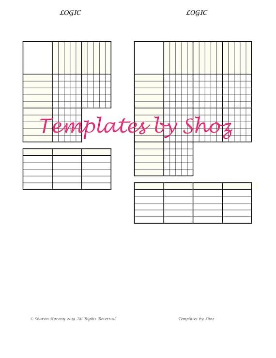 graphic relating to Printable Logic Puzzles Pdf referred to as Printable PDF Puzzle Prepare Sheet - Logic