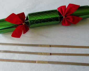 Party cracker snaps, bangers for party popper bonbons, Christmas crackers make your own, DIY custom handmade party crackers, cracker snapper