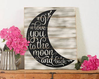 Updated! Now 2 Files. I Love You to the Moon and Back Cricut, Silhouette, Brother Cut File / Digital Download *SVG DXF PNG* and more