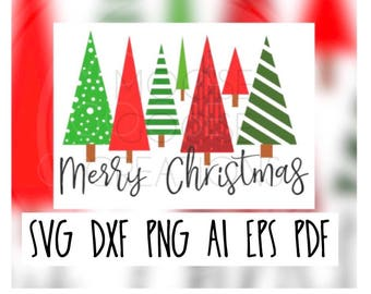 Merry Christmas Cricut, Silhouette, Brother Cut File / Digital Download *SVG DXF PNG*