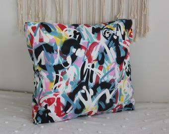 Floor Pillow, Meditation Pillow, Rainbow, Multi-colored, Graffiti, Pouf, Giant Floor Pillow, Pillow, Bean bag, Modern Decor, Floor Cushion