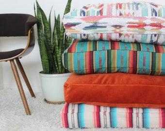 Set of 4 Pillows, Desert Sunrise Collection, Floor Pillow, Meditation Pillow, Giant Floor Pillow, Pillow, Modern Decor, Floor Cushion