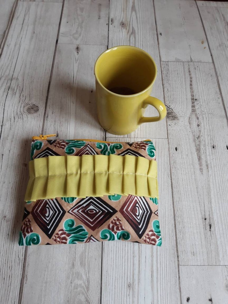 Cotton zipper pouchMakeup bag