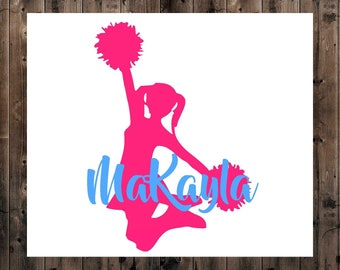 Cheerleader Name Decal, Personalized Cheer Decal, Cheer Decal, Cheer Gift, Name Decal, Cheer Yeti Decal, Team Gift, Cheer Mom Decal, Sticker