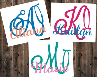 Nurse Decal, Nurse Gift, Stethoscope Decal, Name Decal, Yeti Decal, Stethoscope, RTIC Decal, Laptop Decal, Car Decal, Phone Decal, Cup Decal