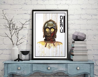 Print of c-3po from star wars